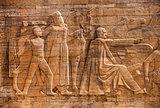 Travertine Relief at mausoleum of Atatürk