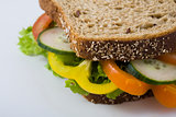 Healthy salad sandwich