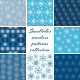Collection of snowflake patterns