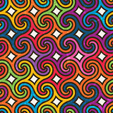 Colorful geometric pattern with spirals.