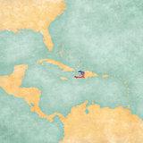 Map of Caribbean - Haiti (Vintage Series)