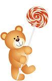 Teddy bear with lollipop