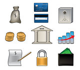 Bank vector icons
