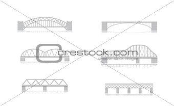 Bridge vector illustrations