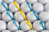 White golf balls