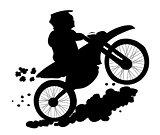 Enduro Biker Sihlouette