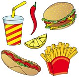 Various fast food collection 02