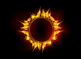 Vector fire flame circle