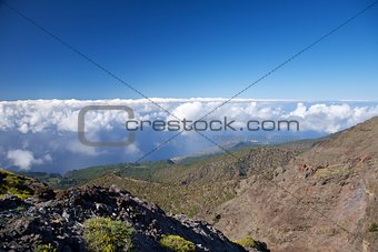 aerial coastline view at La Palma