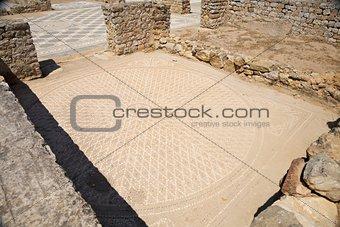 circle ancient mosaic floor