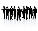 Business people forming a team