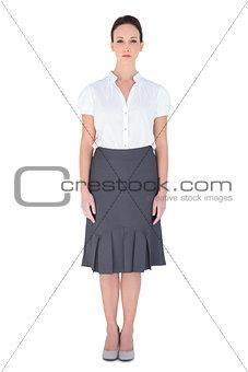 Serious businesswoman posing