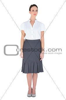 Content businesswoman posing