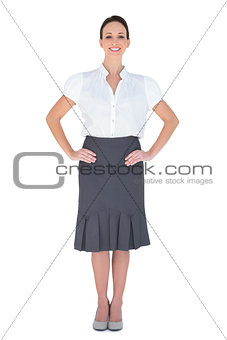 Smiling attractive businesswoman posing