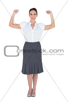Successful elegant businesswoman posing