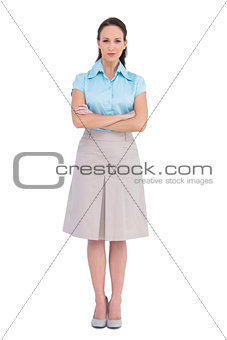 Relaxed stylish businesswoman posing