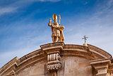 Saint Blaise Church Detail in Dubrovnik, Dalmatia, Croatia