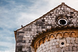 Old Church Detail in Dubrovnik, Dalmatia, Croatia