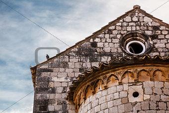Old Church Detail in Dubrovnik, Dalmatia, Croatia