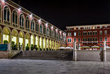 Republic Square in Split at Night, Dalmatia, Croatia