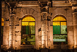 Diocletian Palace Illuminated Windows at Night, Split, Croatia
