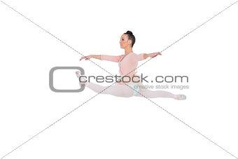 Beautiful ballerina doing the splits