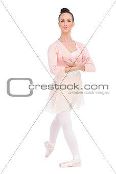 Calm attractive ballerina posing