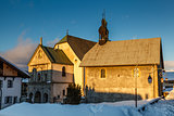 Medieval Church in the Center of Megeve, French Alps, France