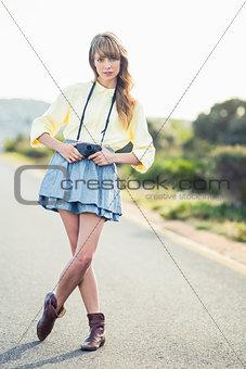 Beautiful stylish photographer
