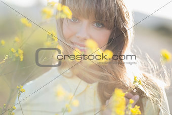 Hipster girl smiling at camera