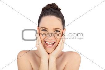 Smiling natural model posing