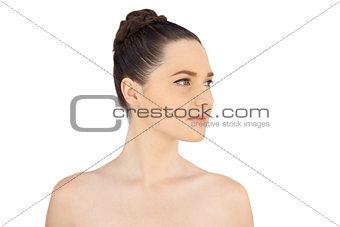Calm natural model posing