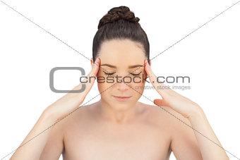 Natural model having headache