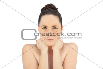 Natural model having painful neck