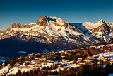 Aerial View on Ski Resort Megeve in French Alps, France