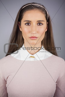 Portrait of pretty model posing