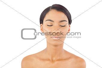 Relaxed beautiful woman posing