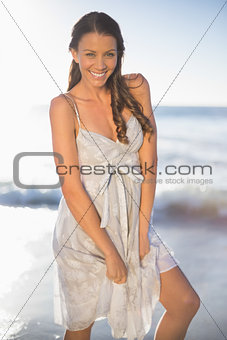 Attractive woman posing on the beach