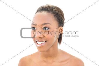 Smiling black beauty posing