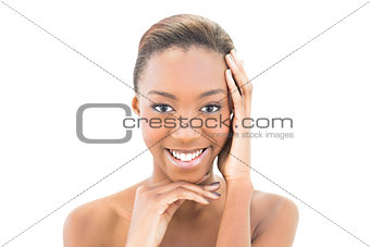 Beautiful smiling woman looking at camera