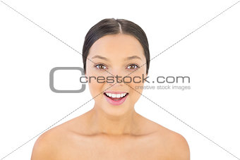 Attractive brunette smiling at camera