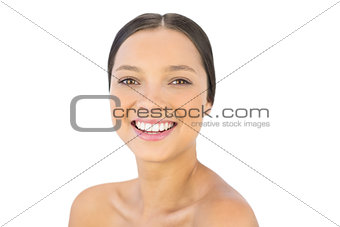 Happy woman smiling at camera