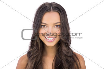 Beautiful woman smiling at camera