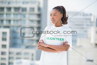 Serious woman posing