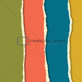 Torn paper set. Background for your business presentation.