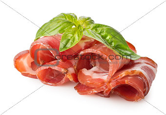 Bacon with herbs