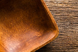 closeup of wooden bowl