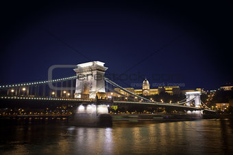 Chain Bridge and Budapest Castle