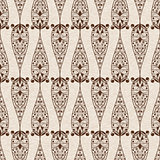 Vector Abstract Seamless  Ethnic  Floral Pattern
