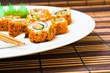 fresh sushi traditional japanese food
